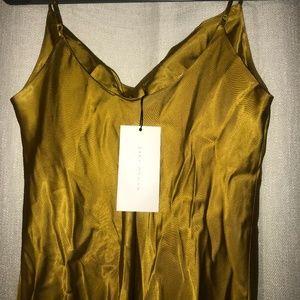 Zara Golden Yellow Silk Dress